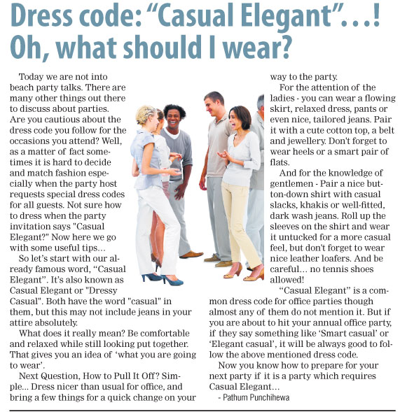 "Stories of the open road: Dress code: ""Casual Elegant""…! Oh, what ..."